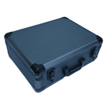 Hard aluminum tool case with printing tool panel