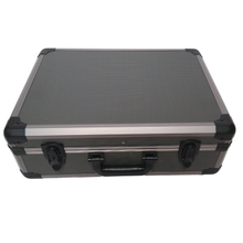 Large aluminum hard tool case with tool panel