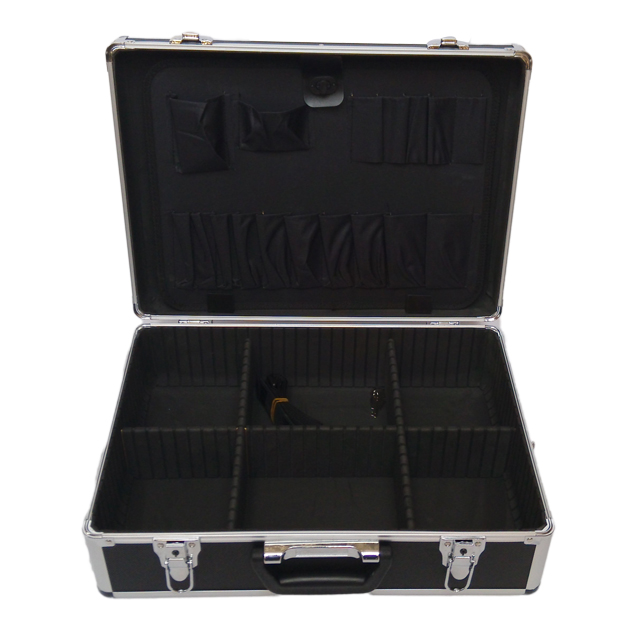 Professional cheap aluminum storage case with dividers